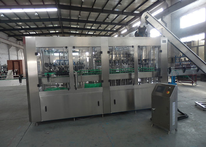 PET Plastic Glass 3 In 1 Monobloc Sparkling Water Wine Bottling Machine / Equipment / Line / Plant / System